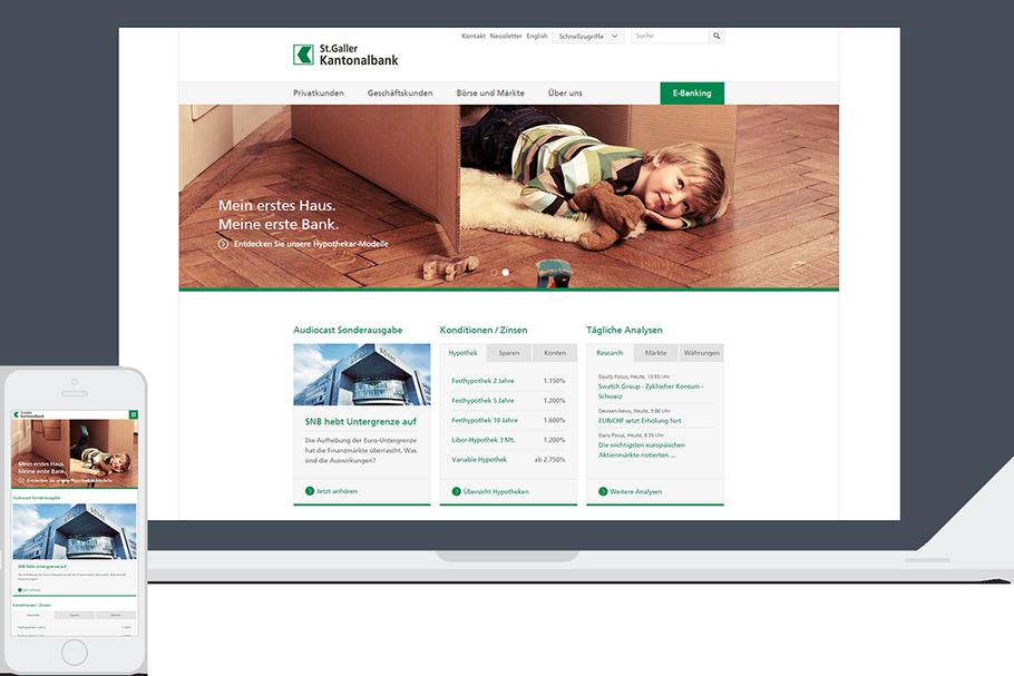 Website St.Galler Kantonalbank