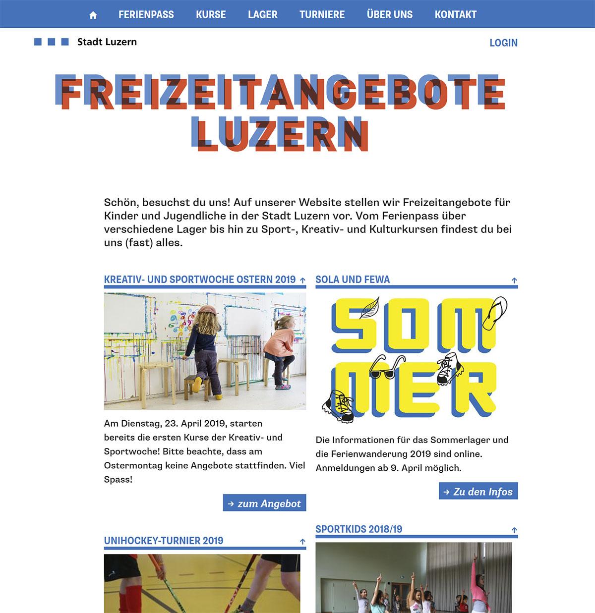 Stadt Luzern - Freizeitangebote