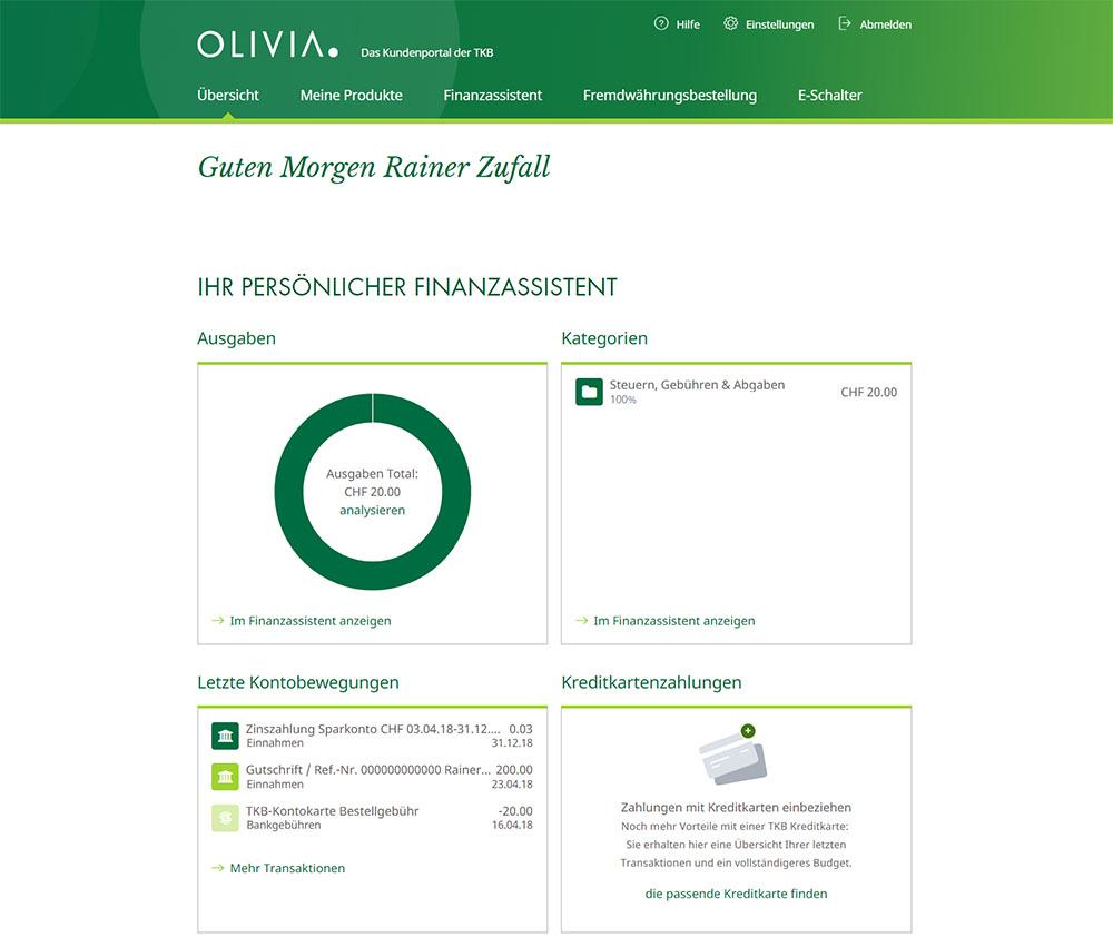 OLIVIA. - Kundenportal der Thurgauer Kantonalbank
